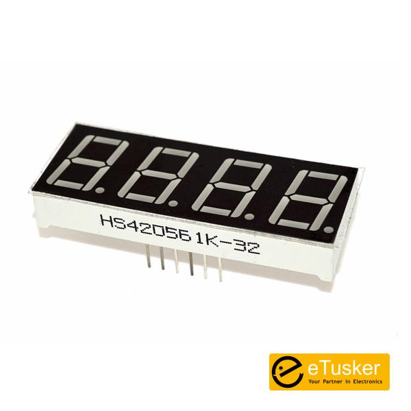 4 Digit 0.56 inch Red Numeric LED Display Common Cathode
