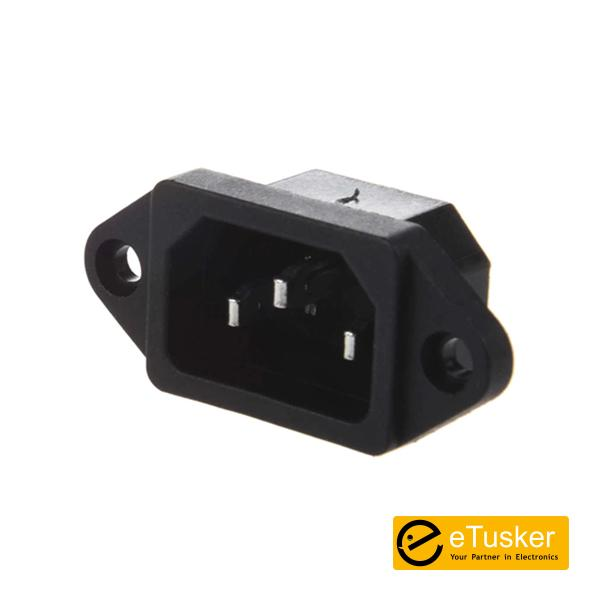 IEC 320 C14 3Pin Power Inlet Socket Connector AC 250V 10A (PC)