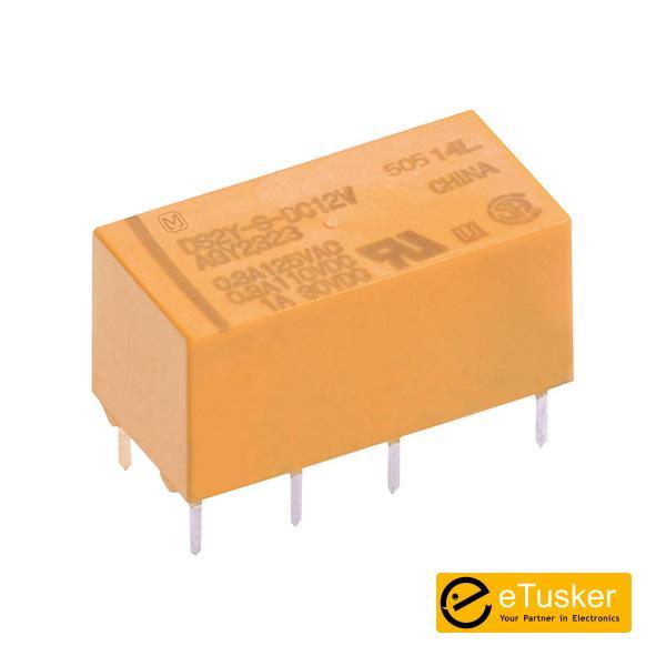 12VDC DPDT Miniature Relay - THR