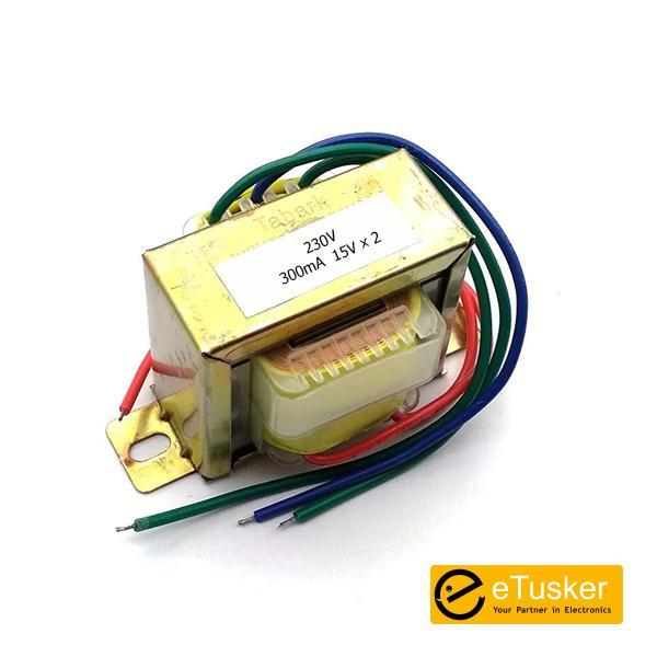 15V x 2 (300mA) Center Tap EI Transformer