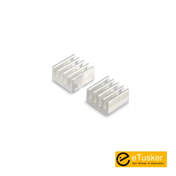 Heat sink 9mm x 9mm x 5mm with Adhesive Back