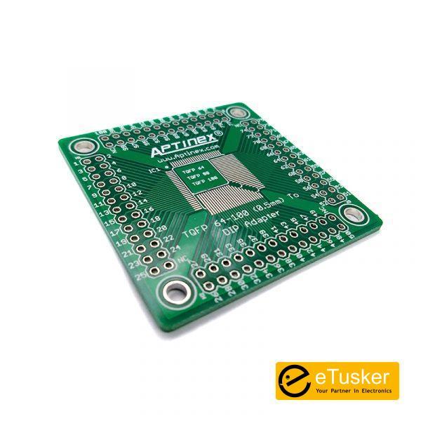 Aptinex TQFP 100,80 & 64 pin to DIP adapter (0.5mm)