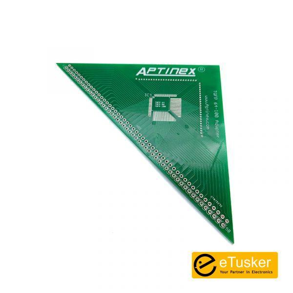 Aptinex TQFP 100,80 & 64 pin to DIP adapter