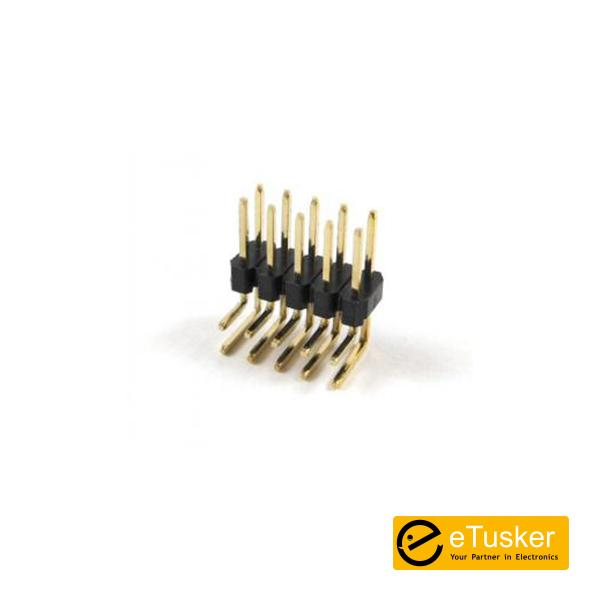 Male Dual 5Pin Header - Right Angle 2.54mm - THR